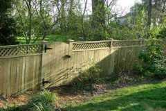 #6 Pressure Treated Flatboard Fence with Lattice