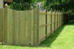 #4 Pressure Treated Flatboard Fence with Dip