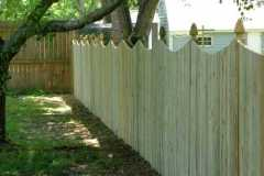 #5 Pressure Treated Flatboard Fence With Dip