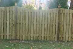 #11 Pressure Treated Pine Board on Board Fence