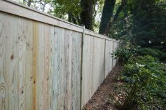 #13 Pine Solid Board Fence with Top Face