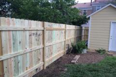 #15 Pine 1x6 Dog Ear Flat Board Fence (Rear View)