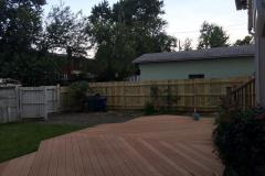 #16 Pine 1x6 Flatboard Fence with Dog Ear Picket