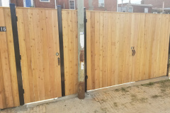 Pine Privacy Fence and Gate Exterior View