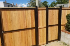 Pine Privacy Fence with Steel Frame Gate