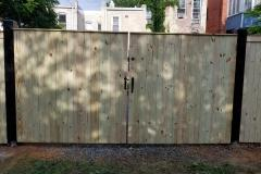 Wood and Steel Reinforced Security Gate - Front View