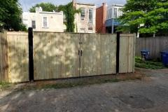 Wood and Steel Reinforced Security Gate - Outside view